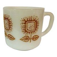 Federal Milk Glass Sunflower Mug FEG21