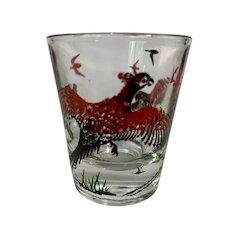 Hazel Atlas Pheasants Shot Glass Set of Six