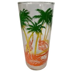 Vintage Libbey Palm Trees Tumbler