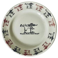 """Western Sizzlin Steakhouse 6 1/4"""" Plate by Homer Laughlin"""