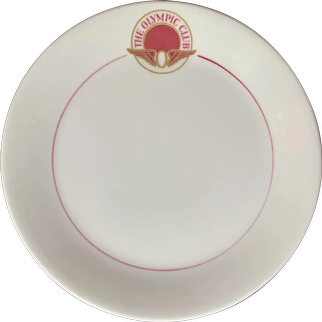The Olympic Club of San Francisco Dessert Bread Plate by Syracuse China