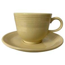Homer Laughlin Fiesta Ware Sunflower Cup & Saucer
