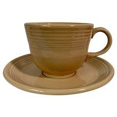 Homer Laughlin Fiesta Ware Tangerine Cup & Saucer