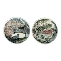 Johnson Brothers Friendly Village Coaster Set of 2~ England