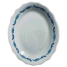 Jackson China Coronet Blue Scroll Serving Platter