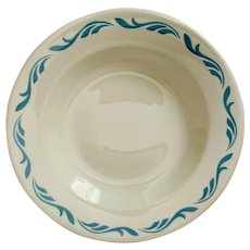 Jackson China Coronet Blue Scroll Soup Bowl