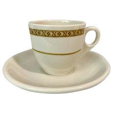 Homer Laughlin Shenango Mixed Demitasse Cup & Saucer Set