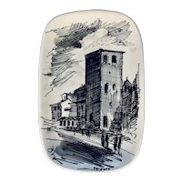 Trieste Italy Wall Hanging Plate Tray