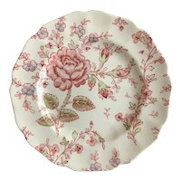 Johnson Brothers Rose Chintz Pink Bread & Butter Plate