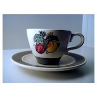 Metlox Poppytrail Provincial Fruit Cup & Saucer