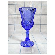 Avon Fostoria Cobalt Blue George Washington Cameo Goblet
