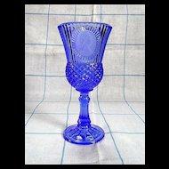 Avon Fostoria Cobalt Blue George Washington Cameo Goblet