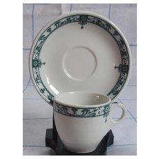 McNicol China Carlton Demi Cup & Saucer