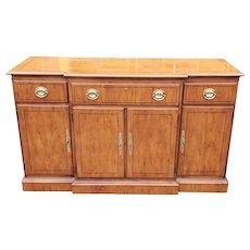 1990s Drexel Heritage Yew Wood Yorkshire Collection Dining Room Sideboard
