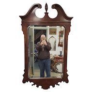 Drexel Heritage Heirlooms Mahogany Beveled Glass Chippendale Style Bedroom Mirror