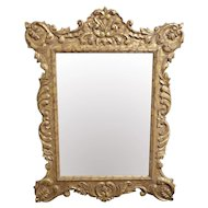 The Classique Collection Romanov Distressed Gold Decorative Hanging Wall Mirror c1990s 46 X 60