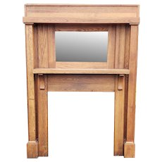 Oak Turn Of the Century Arts & Crafts Style Fireplace Mantel 59 X 75