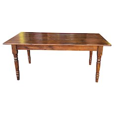 Rustic Primitive Pine Farmhouse Tavern Dining Room Table  38 X 72
