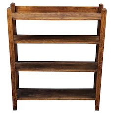 Antique Arts & Crafts Mission Quartered Oak Bookcase c1910