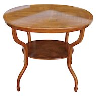 Antique English 19th Century Regency Style Oval Mahogany 2-tiered Occasional Table