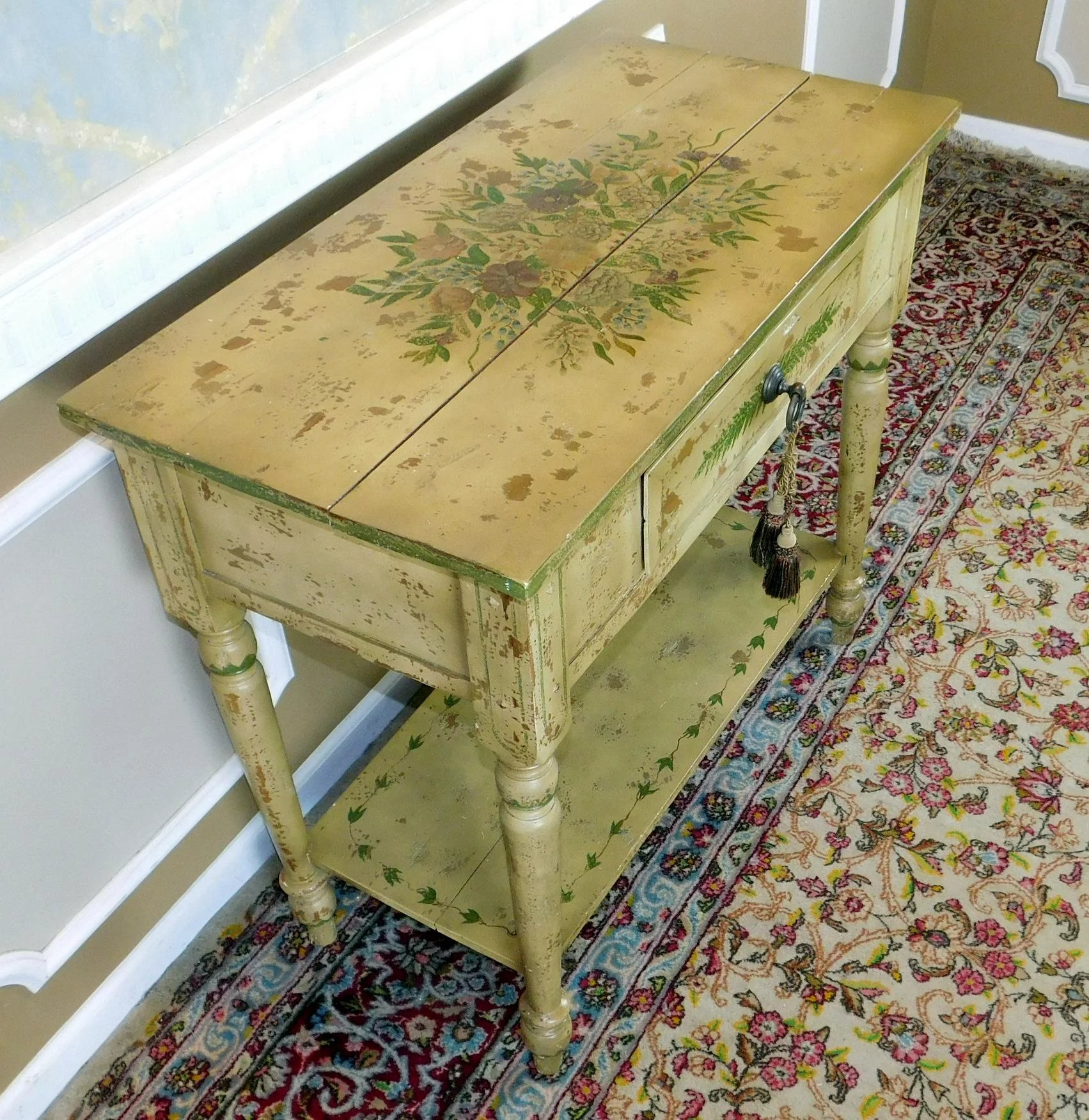 Quality Stickley Audi Bought Hand Painted Distressed