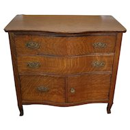Antique Victorian Quartered Oak Small Wash Stand Chest c1900