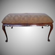 Heritage Walnut Asian Style Ming Treasure Collection Dining Room Table & 2 Leaves #051-342 c1980s