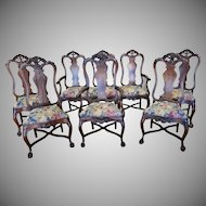 6 Piece 20th Century Imported Rosewood Carved French Renaissance Parlor Set