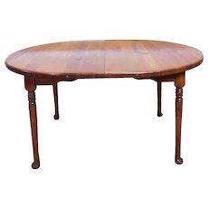 Classic Colonial Style Knotty Pine Oval Kitchen ~ Dining Room Table w/ 2 Leaves