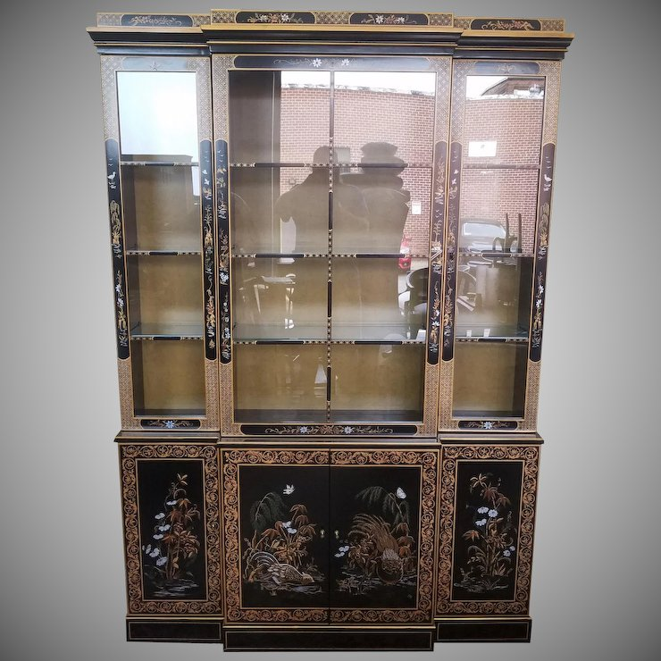Charmant Drexel Heritage Et Cetera Collection Asian Chinoiserie Painted Dining Room China  Cabinet 1980s 2 Of 2