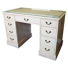 Custom Painted Girls Bedroom Mahogany Kneehole Desk