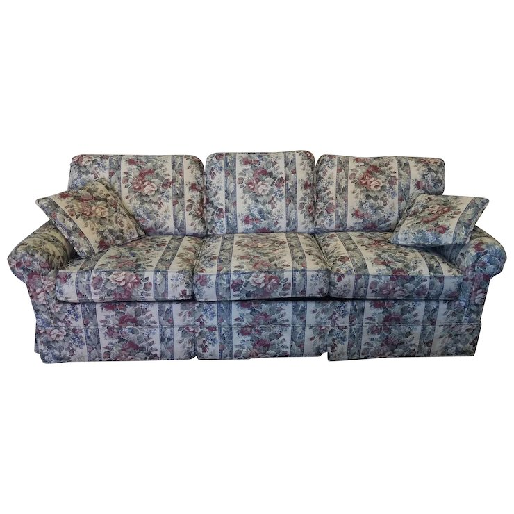 Extremely Clean Castro Convertible Floral Upholstered Queen Sleeper