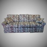 Extremely Clean Castro Convertible Floral Upholstered Queen Sleeper Sofa Sofabed