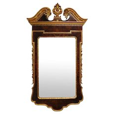 20th Century Gilded Mahogany Federal Style Hanging Wall Mirror