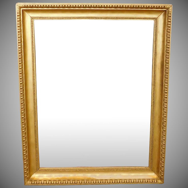 Fantastic Regency Style Gilded Frame Rectangular Hanging Wall Mirror ...