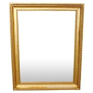 Fantastic Regency Style Gilded Frame Rectangular Hanging Wall Mirror 38 X 47 c1950s