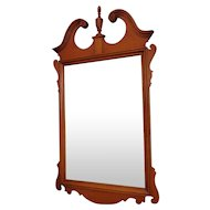 Very Nice Maple & Mahogany Chippendale Style Bedroom Hanging Wall Mirror ~ 1950s