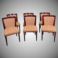Set 6 1980s Contemporary Lacquered Upholstered Chairs ~ Style Dakota Jackson