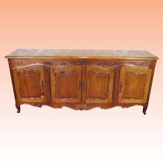 Very Fine Quality Large Cherry French Provincial Style Dining Room Buffet Sideboard ~ 20th Century