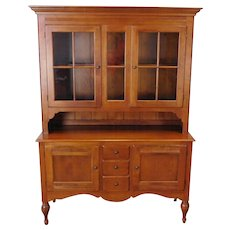 Ethan Allen Country Crossings Buffet w/ China Cabinet Top