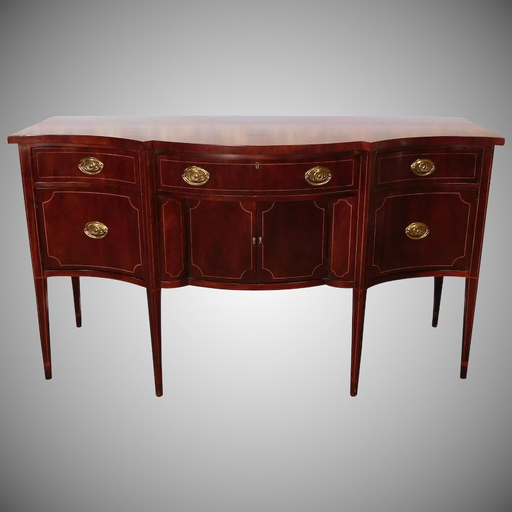 Attirant Baker Furniture Inlaid Mahogany Federal Style Dining Room Sideboard