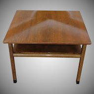 Mid Century Edward Wormley For Dunbar Walnut Living Room Lamp Table c1950s