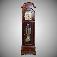 Banded Mahogany Seth Thomas Grandfather Clock c1990s