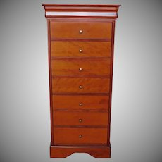 Grange Furniture French Cherry Louis Philippe Style 7+1 Drawer Lingerie Chest 1990s (1 of 2)