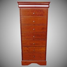 Grange Furniture French Cherry Louis Philippe Style 7+1 Drawer Lingerie Chest 1990s (2 of 2)