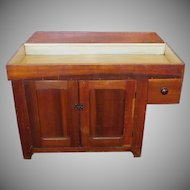 Antique 19th Century Primitive Rustic Pine Dry Sink Cabinet c1880