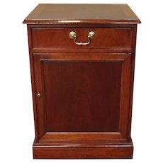 Baker Furniture Mahogany Single Drawer Night Stand ~ Office Printer Table c1980s