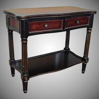 Paint Decorated Hooker Furniture Seven Seas Collection Flip Top Console Serving Table