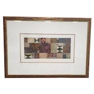 "Original Mixed Media On Paper Framed Patricia A. Beatty ""Illumination"" Art-Work"