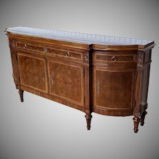 Very Fine Karges Furniture French Walnut Louis XVI Style Dining Room Sideboard Model #341
